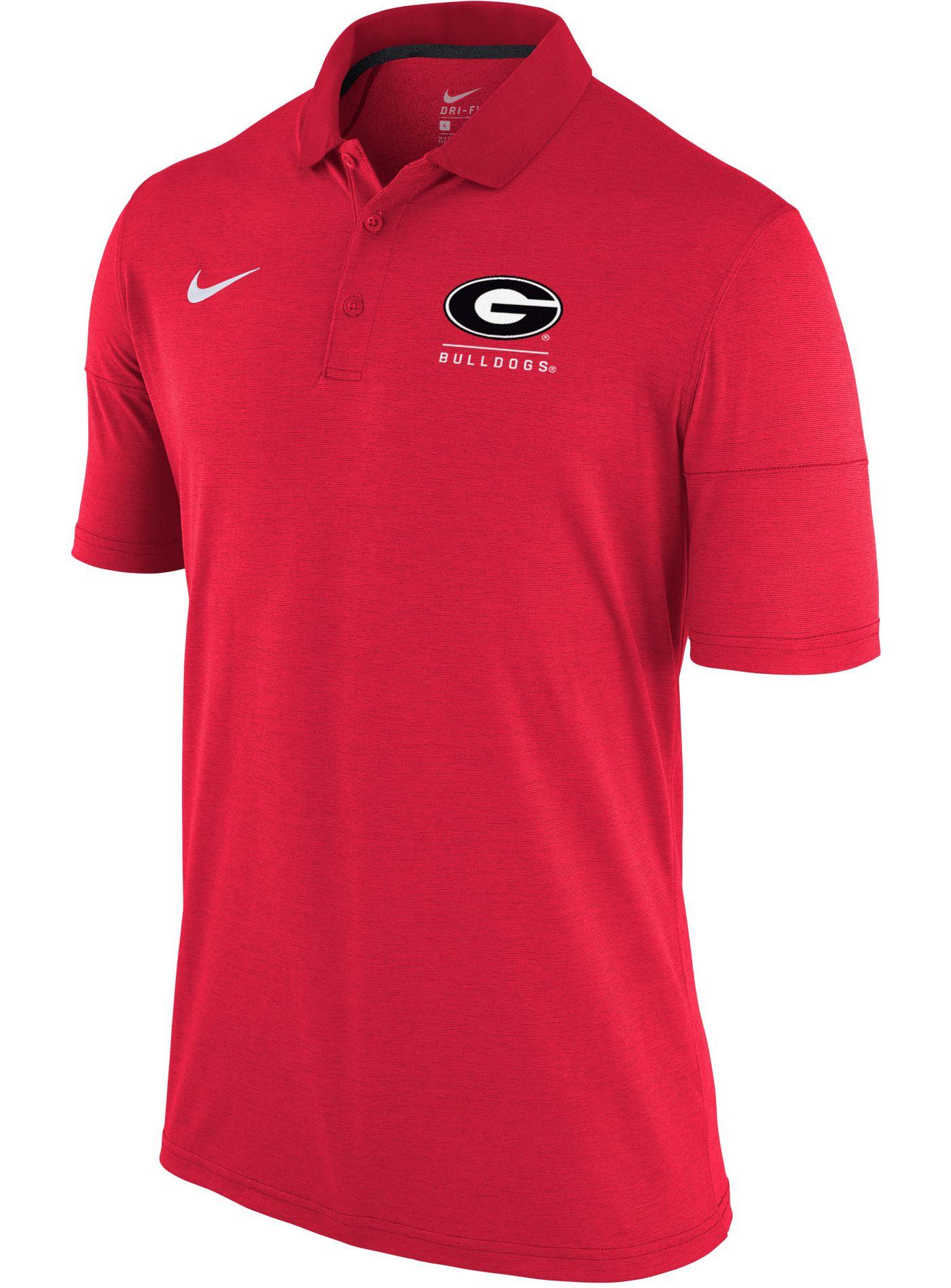 Nike Men's Georgia Bulldogs Red Dry Lightweight Polo