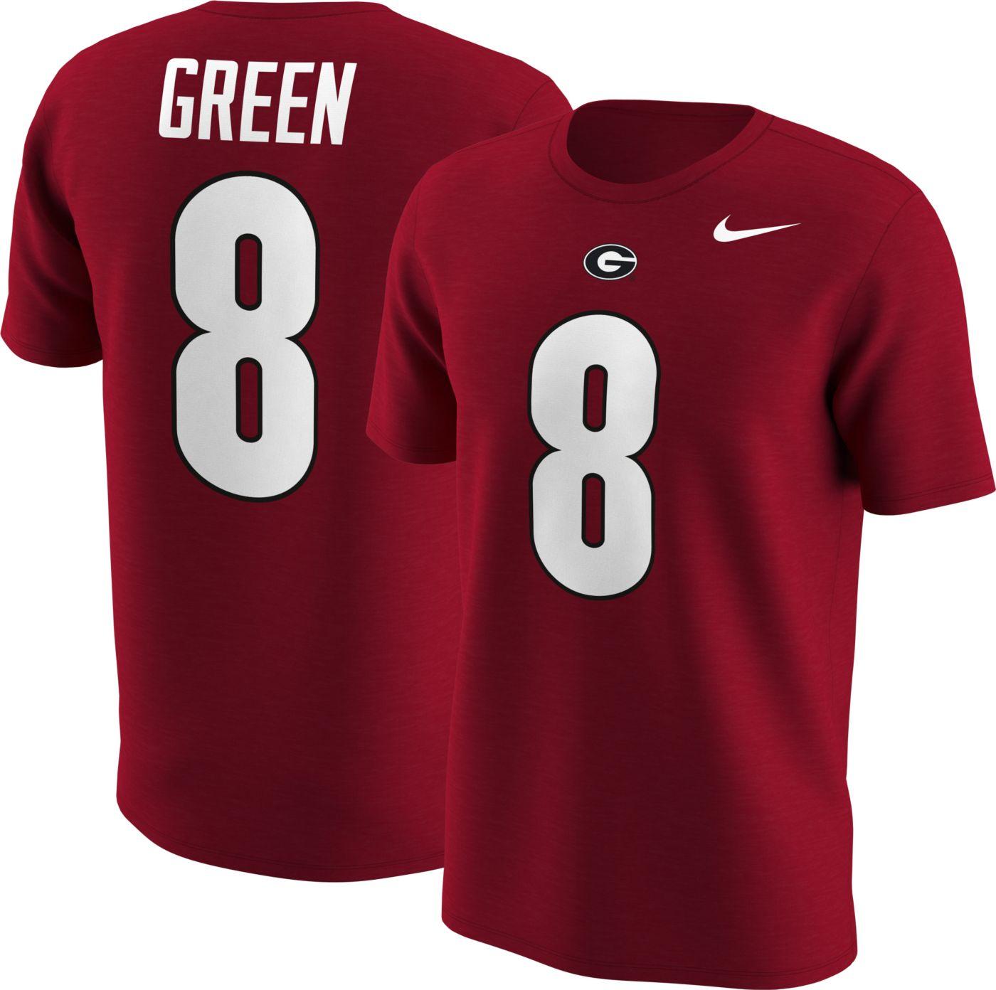 Nike Men's Georgia Bulldogs AJ Green #8 Red Football Jersey T-Shirt