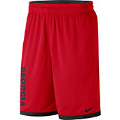 Nike Men's Georgia Bulldogs Red Dri-FIT Mesh Basketball Shorts