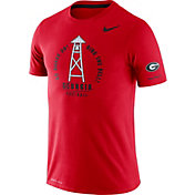 Nike Men's Georgia Bulldogs Red Dri-FIT Rivalry Football Sideline T-Shirt