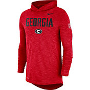 Nike Men's Georgia Bulldogs Red Dri-FIT Rivalry Football Sideline Hooded T-Shirt