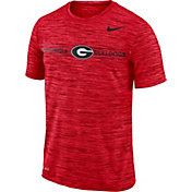 Nike Men's Georgia Bulldogs Red Velocity Football T-Shirt