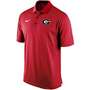 Nike Men's Georgia Bulldogs Red Stadium Striped Polo