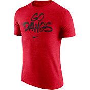Nike Men's Georgia Bulldogs Red 'Go Dawgs' Tri-Blend Verbiage T-Shirt