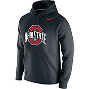Nike Men's Ohio State Buckeyes Club Fleece Pullover Black Hoodie