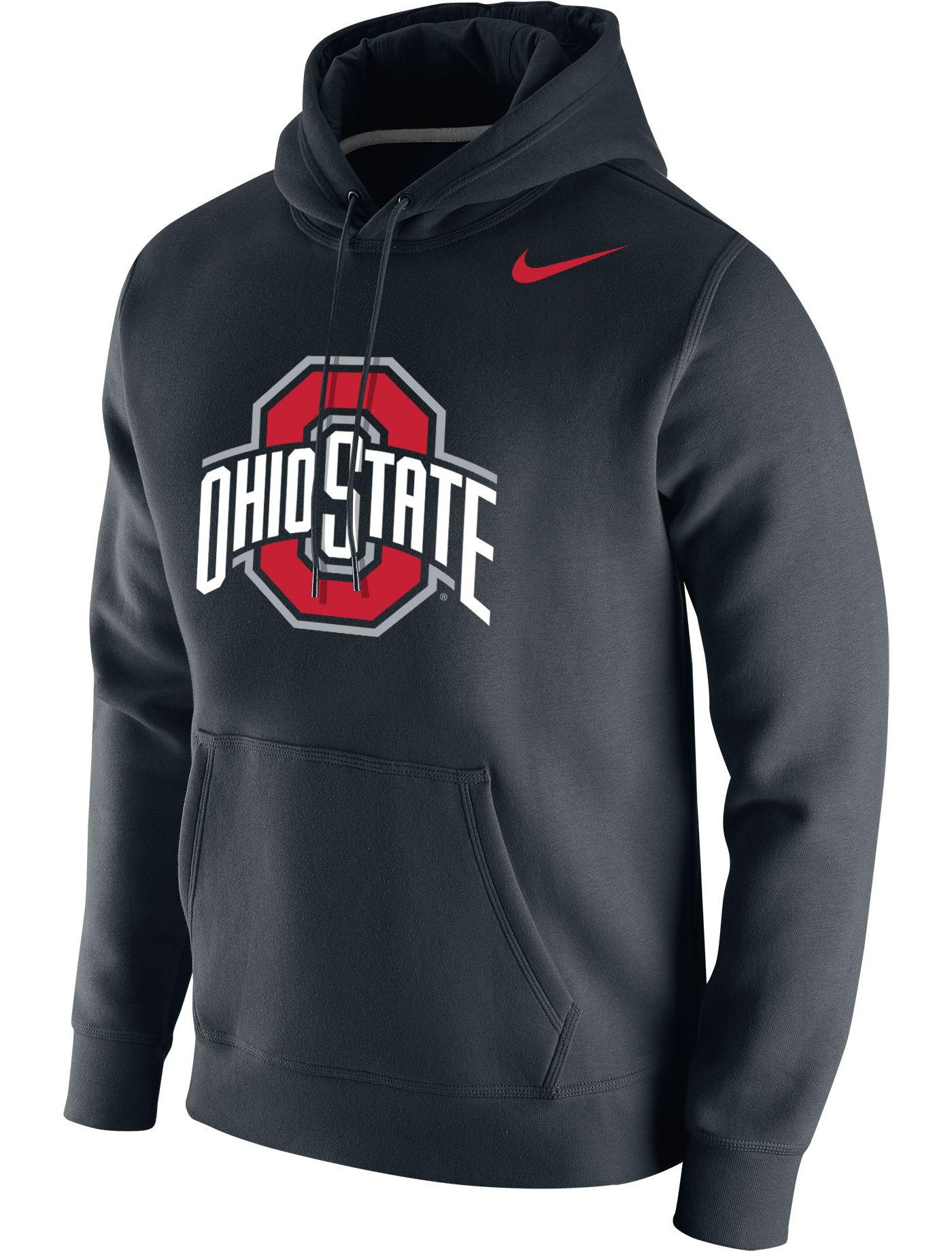 Nike Men's Ohio State Buckeyes Club Fleece Pullover Black Hoodie