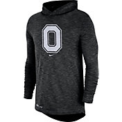 Nike Men's Ohio State Buckeyes Dri-FIT Slub Long Sleeve Hooded Black T-Shirt