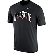 Nike Men's Ohio State Buckeyes Dri-FIT Cotton Word Black T-Shirt