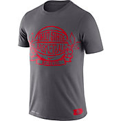 Nike Men's Ohio State Buckeyes Gray Dry Crest Basketball T-Shirt