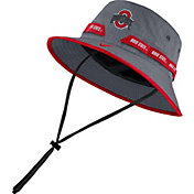 Nike Men's Ohio State Buckeyes Gray Dri-FIT Sideline Bucket Hat