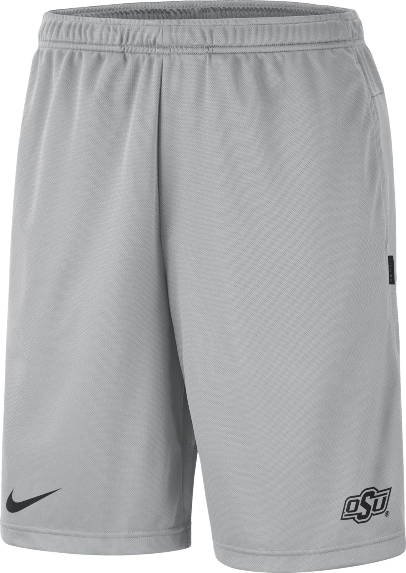 Nike Men's Oklahoma State Cowboys Grey Dri-FIT Coach Shorts