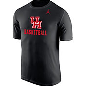 Jordan Men's Houston Cougars Dri-FIT Basketball Black T-Shirt