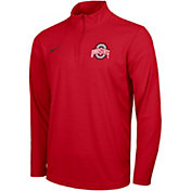 Nike Men's Ohio State Buckeyes Scarlet Intensity Quarter-Zip Shirt