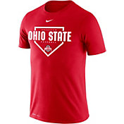 Nike Men's Ohio State Buckeyes Scarlet Dri-FIT Home Plate Baseball T-Shirt