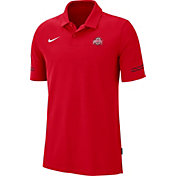 Nike Men's Ohio State Buckeyes Scarlet Elevated Flex On-Field Performance Polo