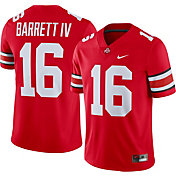Nike Men's J.T. Barrett IV Ohio State Buckeyes #16 Scarlet Retro Alternate Limited Football Jersey