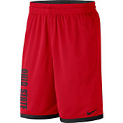 Nike Men's Ohio State Buckeyes Scarlet Dri-FIT Mesh Basketball Shorts