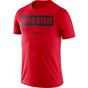 Nike Men's Ohio State Buckeyes Scarlet Basketball Legend Practice T-Shirt