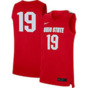 Nike Men's Ohio State Buckeyes #19 Scarlet Replica Basketball Jersey