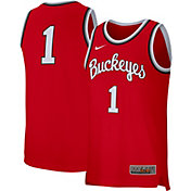 Nike Men's Ohio State Buckeyes #1 Scarlet Replica Retro Basketball Jersey