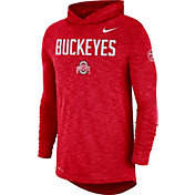 Nike Men's Ohio State Buckeyes Scarlet Dri-FIT Rivalry Football Sideline Hooded T-Shirt