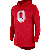Nike Men's Ohio State Buckeyes Scarlet Dri-FIT Slub Long Sleeve Hooded T-Shirt