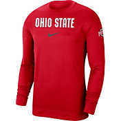 Nike Men's Ohio State Buckeyes Scarlet Dri-FIT Spotlight Long Sleeve Basketball T-Shirt