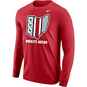 Nike Men's Ohio State Buckeyes Scarlet Student Body Long Sleeve T-Shirt