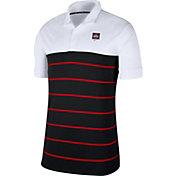Nike Men's Ohio State Buckeyes White/Scarlet Striped Polo