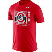 Nike Men's Ohio State Buckeyes Scarlet Team Issue Logo Football T-Shirt