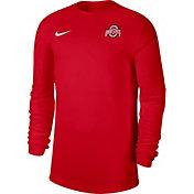 Nike Men's Ohio State Buckeyes Scarlet Top Coach UV Football Long Sleeve T-Shirt