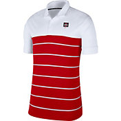 Nike Men's Ohio State Buckeyes White/Scarlet Striped Polo