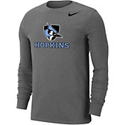 Nike Men's Johns Hopkins Blue Jays Grey Wordmark Long Sleeve T-Shirt