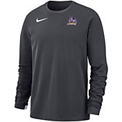 Nike Men's James Madison Dukes Grey Dri-FIT Modern Long Sleeve Crew Neck T-Shirt