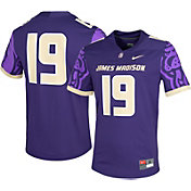 Nike Men's James Madison Dukes #19 Purple Dri-FIT Game Football Jersey