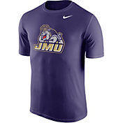 Nike Men's James Madison Dukes Purple Logo Dry Legend T-Shirt