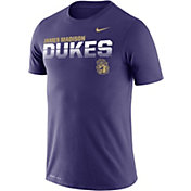 Nike Men's James Madison Dukes Purple Legend Football Sideline T-Shirt