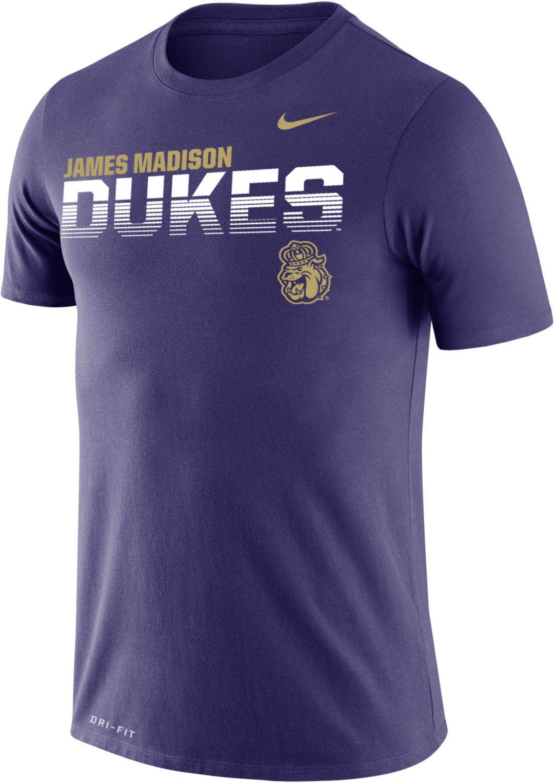 online store 7c4d0 ffed2 Nike Men's James Madison Dukes Purple Legend Football Sideline T-Shirt