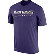Nike Men's James Madison Dukes Purple Football Dri-FIT Cotton Facility T-Shirt