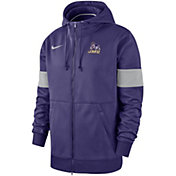 Nike Men's James Madison Dukes Purple Therma Football Sideline Full-Zip Hoodie