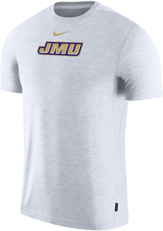 wholesale dealer 65706 ef1da Nike Men's James Madison Dukes Dri-FIT Coach Football White T-Shirt