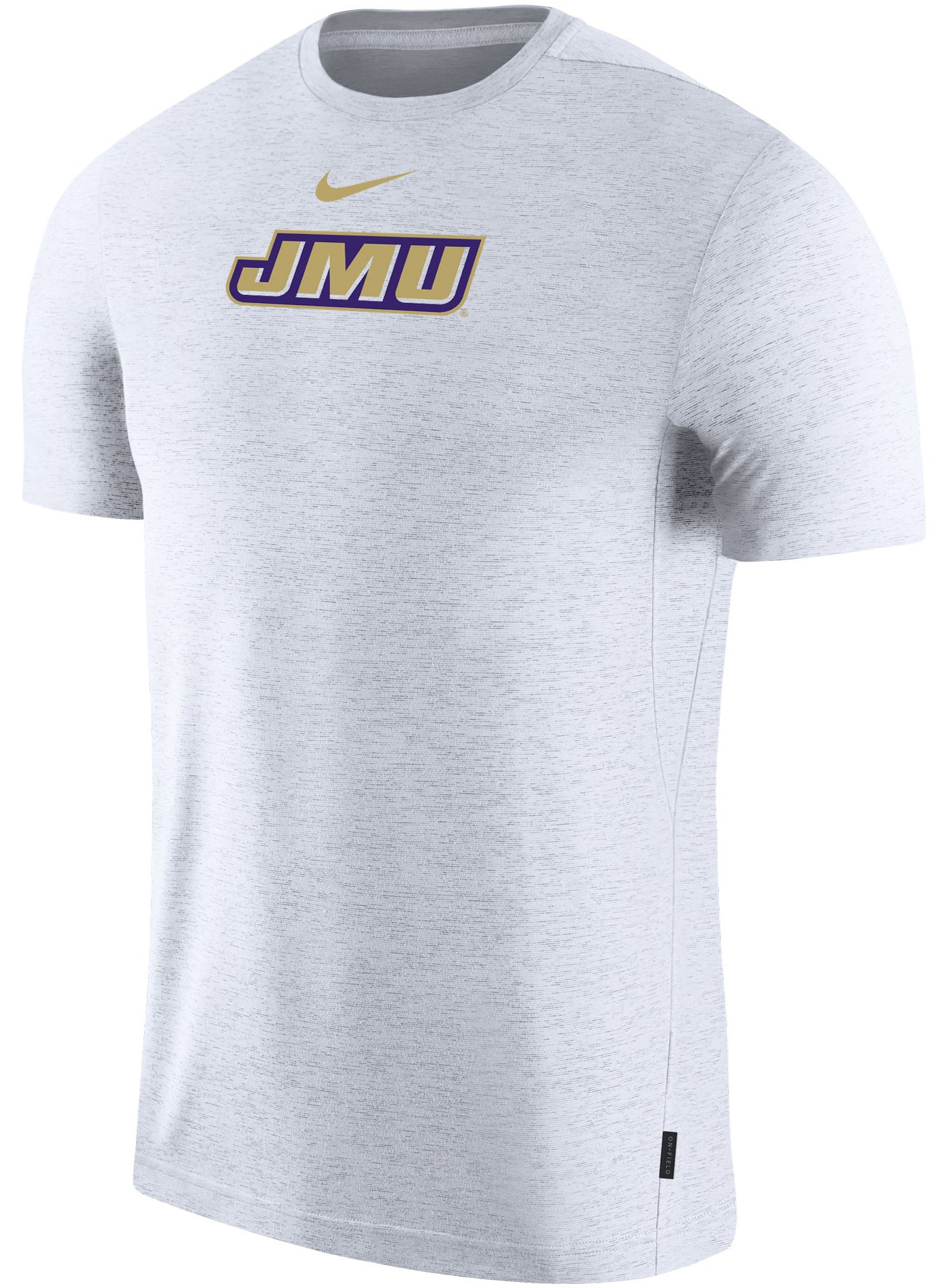 Nike Men's James Madison Dukes Dri-FIT Coach Football White T-Shirt