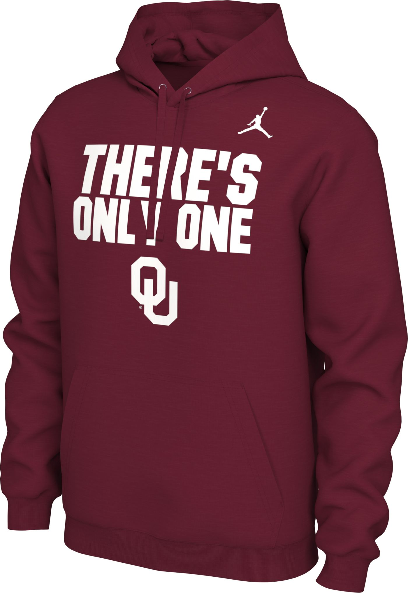Jordan Men's Oklahoma Sooners Crimson 'There's Only One' Local Pullover Hoodie