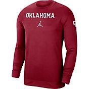 Jordan Men's Oklahoma Sooners Crimson Dri-FIT Spotlight Long Sleeve Basketball T-Shirt