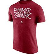 Jordan Men's Oklahoma Sooners Crimson 'Boomer Sooner' Tri-Blend Verbiage T-Shirt