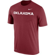 Nike Men's Oklahoma Sooners Crimson Dri-FIT Cotton Word T-Shirt