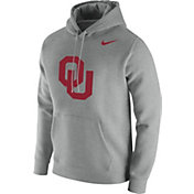 Nike Men's Oklahoma Sooners Grey Club Fleece Pullover Hoodie