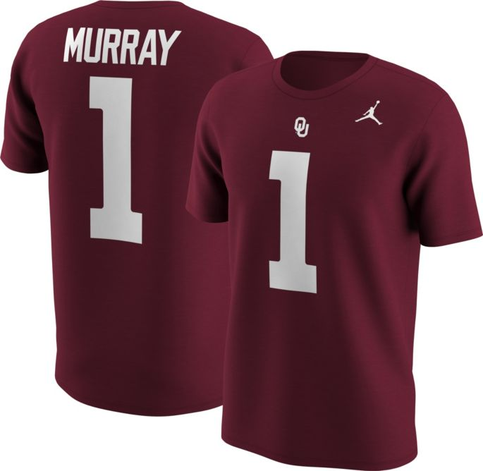 low priced 3684e 90d1a Jordan Men's Oklahoma Sooners Kyler Murray #1 Crimson Football Jersey  T-Shirt