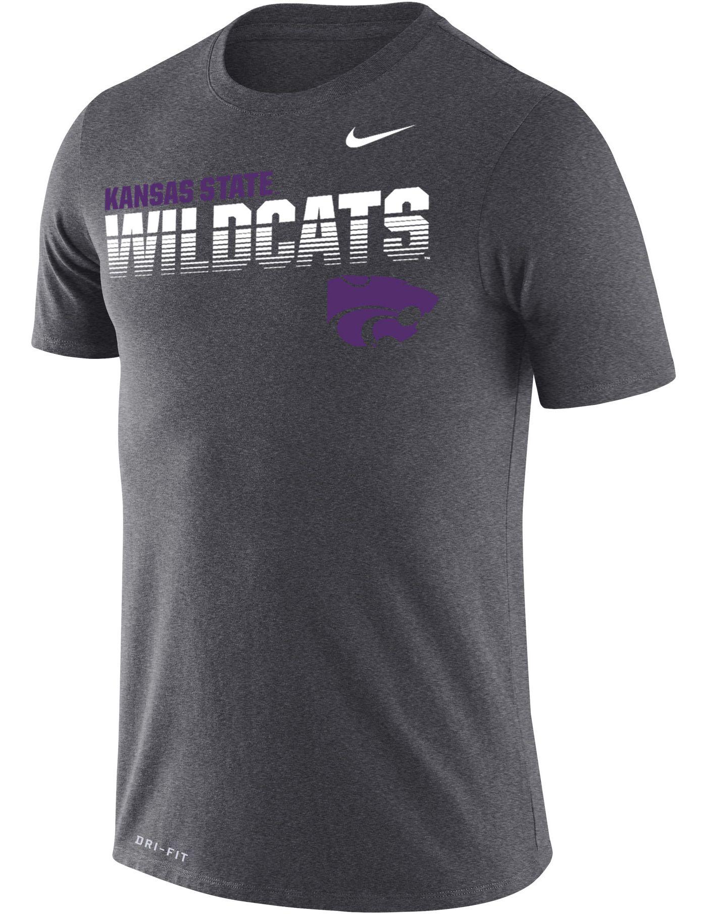 Nike Men's Kansas State Wildcats Grey Legend Football Sideline T-Shirt