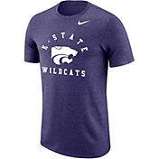 Nike Men's Kansas State Wildcats Purple Marled Raglan T-Shirt